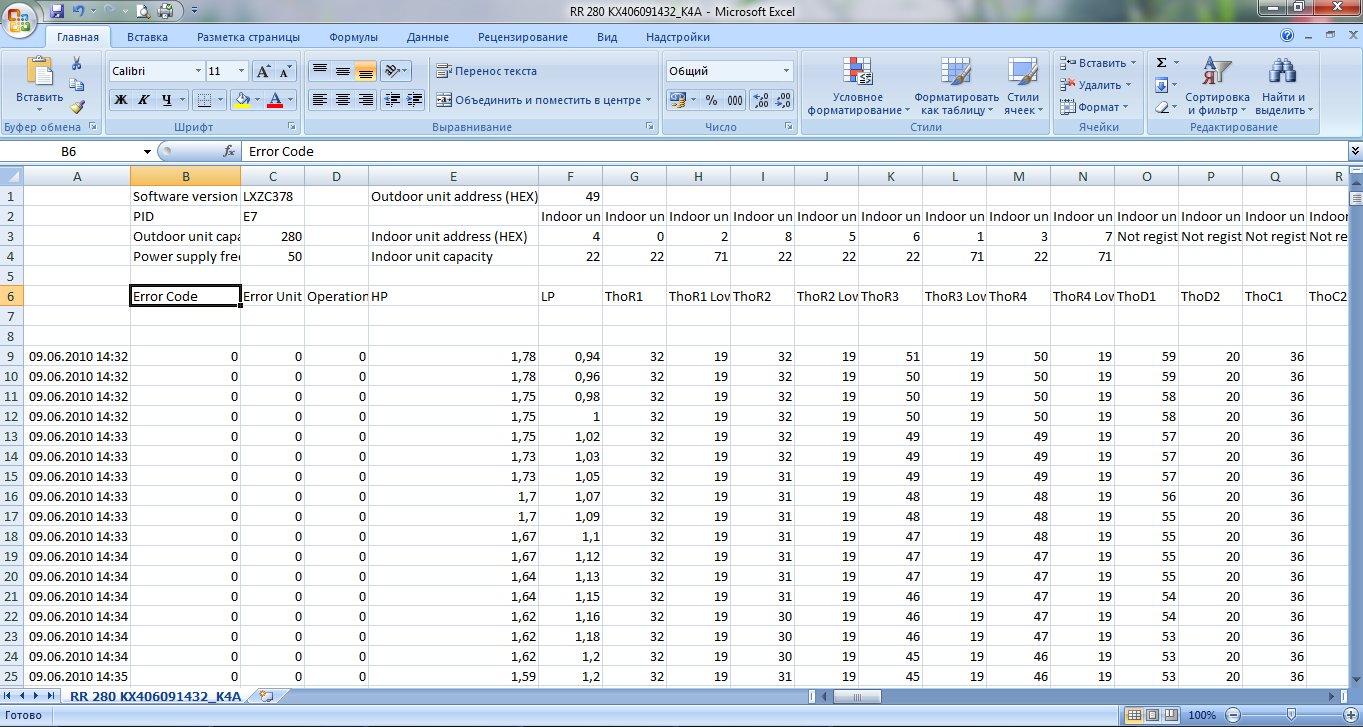 Рис. 4. Подключение программы тестирования системы и отображение информации.